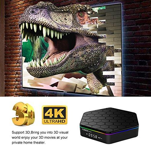 IVSUN T95Z PLUS Android 7.1 TV BOX, Amlogic S912 Octa Core 2GB RAM 16GB ROM Support Dual WiFi 2.4G/5GHz 1000M LAN BT 4.0 UHD 4K 3D Smart TV Boxes with Mini Wireless Keyboard (BACKLIT) by IVSUN (Image #3)