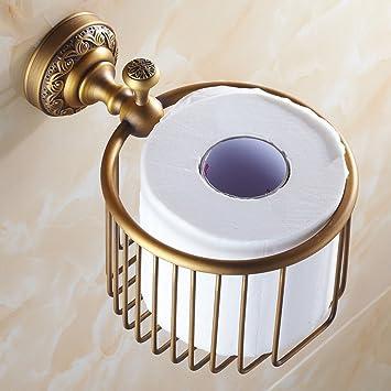 Full papelera cobre antiguo titular de toallas de papel portarrollos wc cesta cosmética multifunción estanterías: Amazon.es: Bricolaje y herramientas