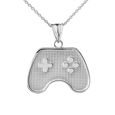 Amazon fine sterling silver video game controller charm pendant fine sterling silver video game controller charm pendant necklace 16quot aloadofball Choice Image