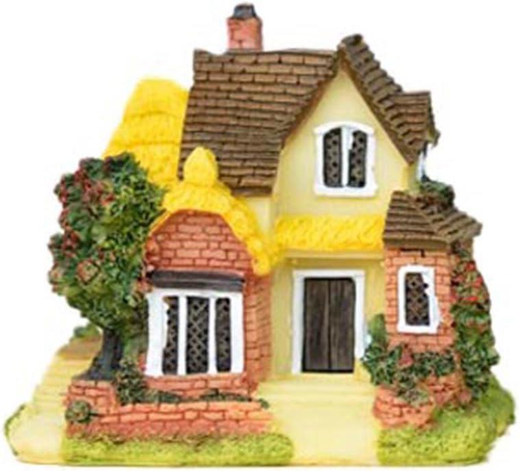 Resin Flower House Succulent Plant Flower Pot Garden Planter Fairy Dollhouse