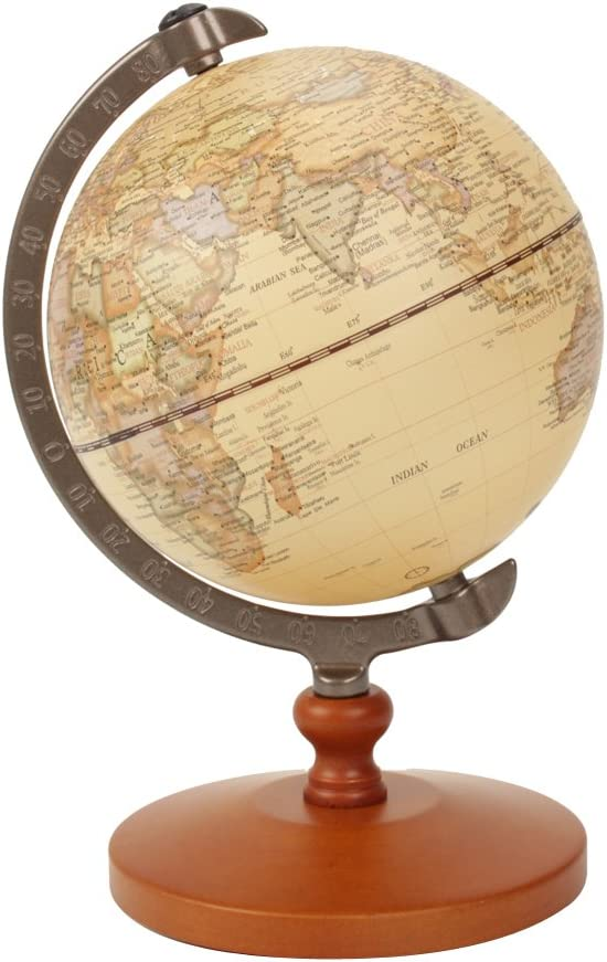 VStoy Vintage Reference World Globe Home Work Decor Wedding Educational Gift (14cm/5.5 Inch)
