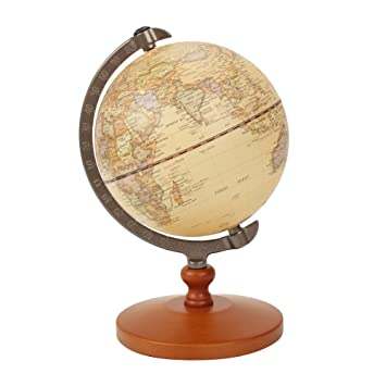 VStoy Vintage Reference World Globe Home Work Decor Wedding Educational  Gift 14cm/5.5 Inch