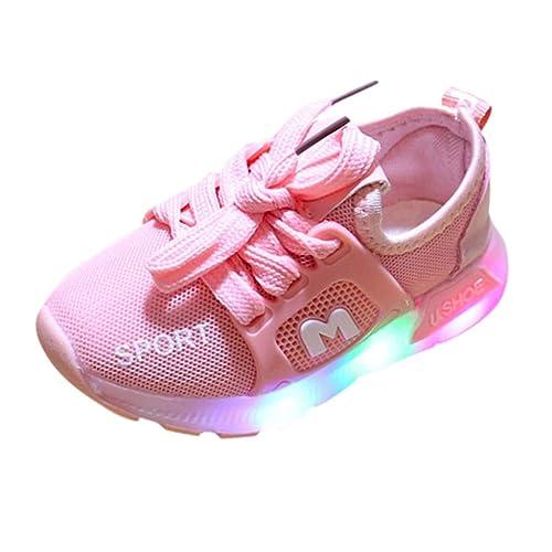 FannyFuny Licht LED Sneaker Unisex Baby Jungen M/ädchen Sportart Turnschuhe Sportschuhe Leuchtschuhe Blinkende Kinderschuhe rutschfest Aussensohle Laufschuhe Atmungsaktiv Lauflernschuhe Wanderschuhe