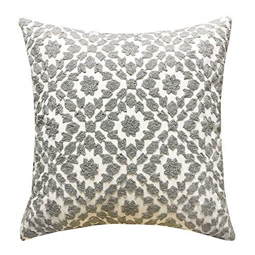 SLOW COW Cotton Decor Throw Pillow Cover Embroidery Chain De