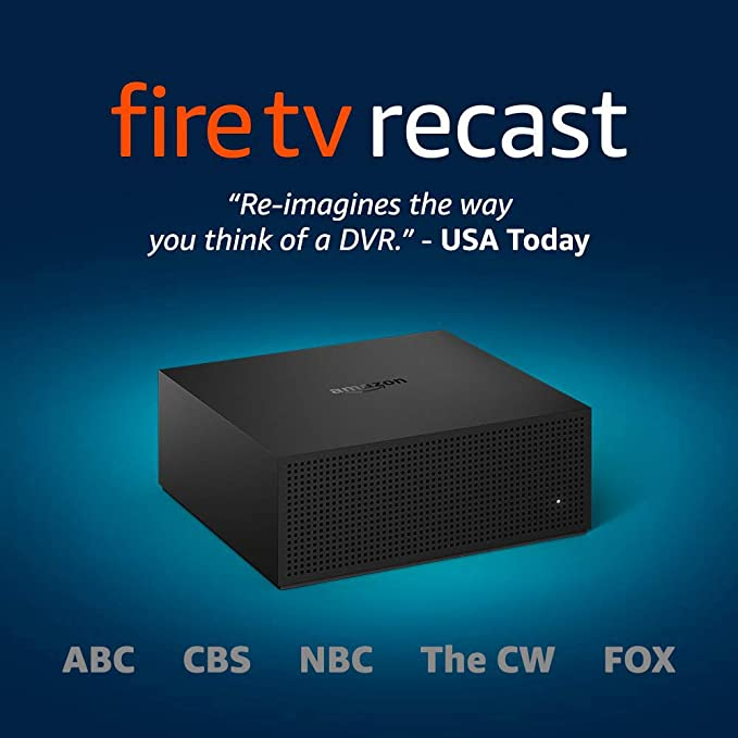 Amazon.com: Fire TV Recast, over-the-air DVR, 500 GB, 75 hours, DVR for cord cutters: Amazon Devices