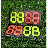 Bazaar Football Substitute 2 Side Board Fluorescent Hand Adjust Coach Soccer Board
