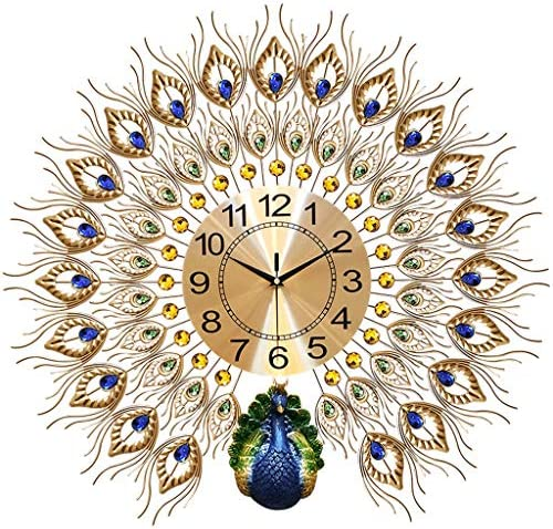 LANGSHI Peacock Wall Clock Large Silent Clock