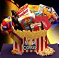 Movie Mania! Movie Themed Snack Gift Basket with Red Box
