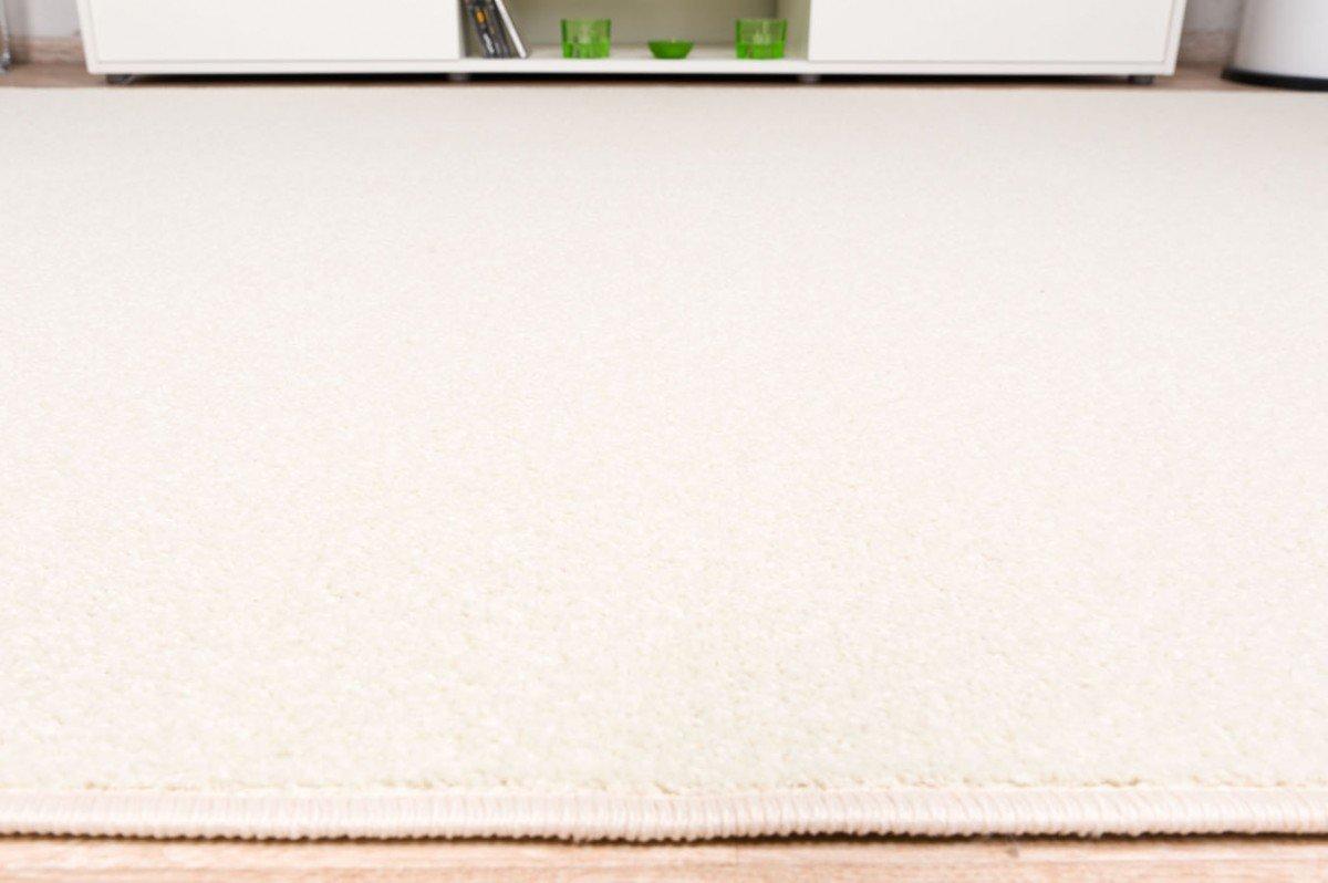 Havatex Velours Teppich Trend - schadstoffgeprüft und pflegeleicht     schmutzabweisend robust strapazierfähig   Wohnzimmer Schlafzimmer, Farbe Beige, Größe 140 x 200 cm 18e7d1