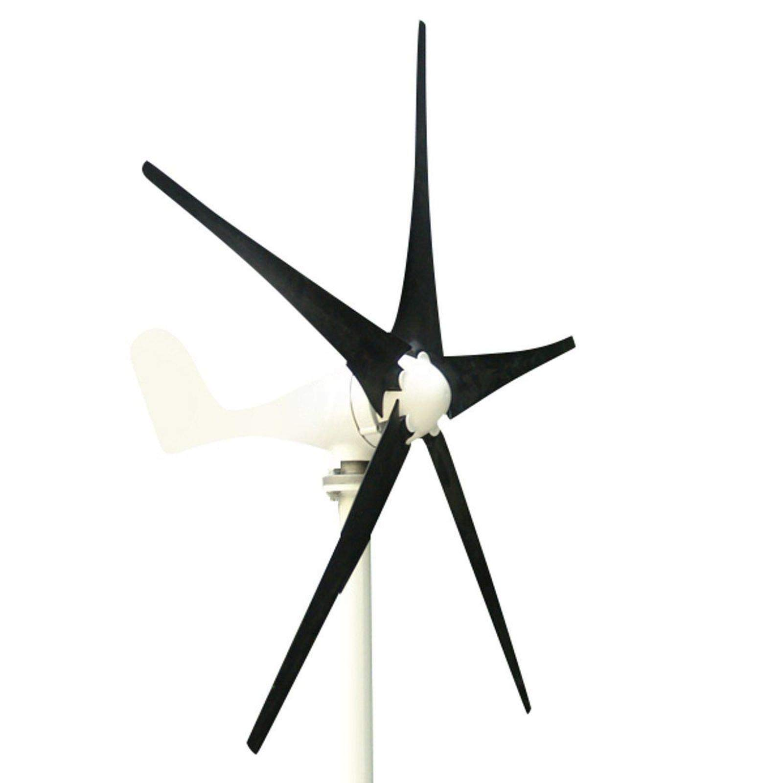 DC 12V 500W Power 5 Blades Horizontal Wind Turbine Generator Kit with Control (DC24V)
