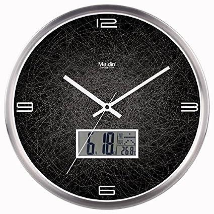 Reloj de pared nueva moderna precisa para cualquier habitación Salón Dormitorio silenciosa No en blanco y ...