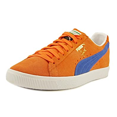 e95049d767b6 PUMA Men s Clyde NYC Vibrant Orange Puma Royal Athletic Shoe  Buy Online at  Low Prices in India - Amazon.in