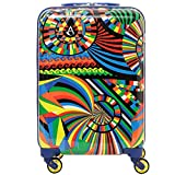 Aerolite 55cm Polycarbonate Hard Shell 4 Wheel Travel Carry On Hand Cabin Luggage Suitcase Carnival Approved for easyJet British Airways Ryanair