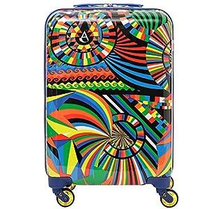 Aerolite 55x35x20cm Hard Shell 4 Wheel Hand Cabin Bag Luggage Travel Carry On Suitcase
