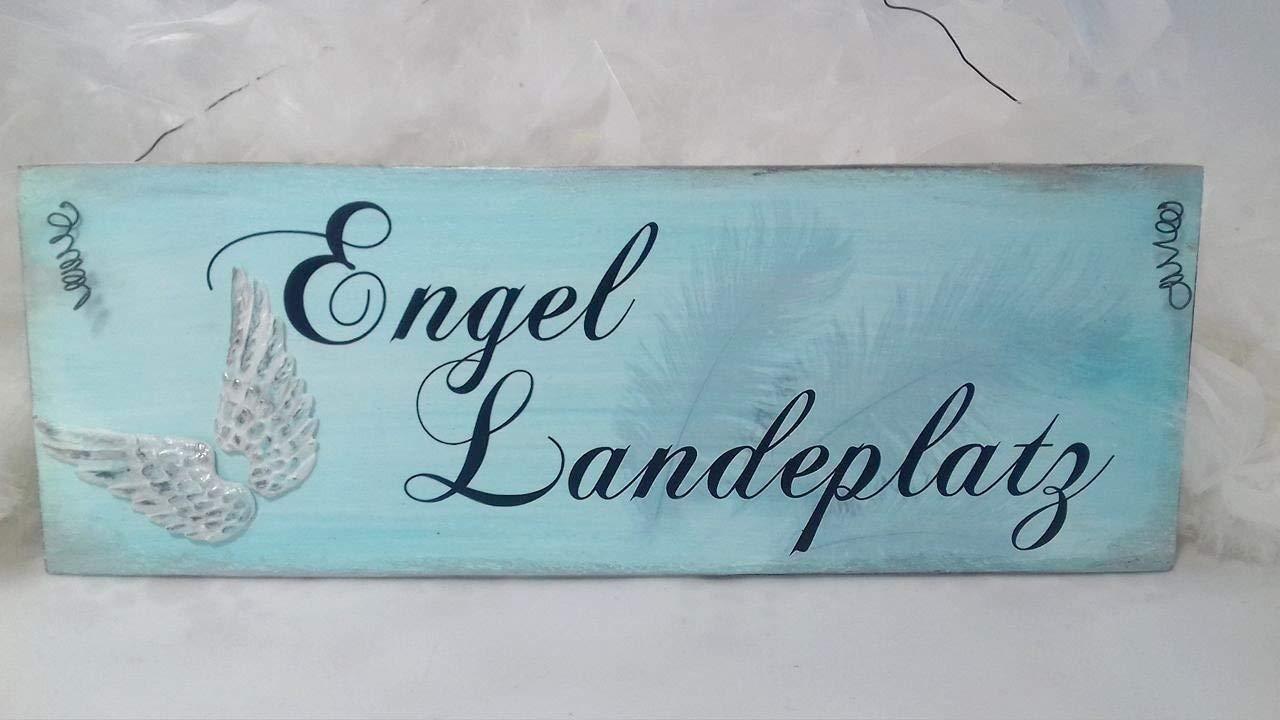 Engel Landeplatz Schild