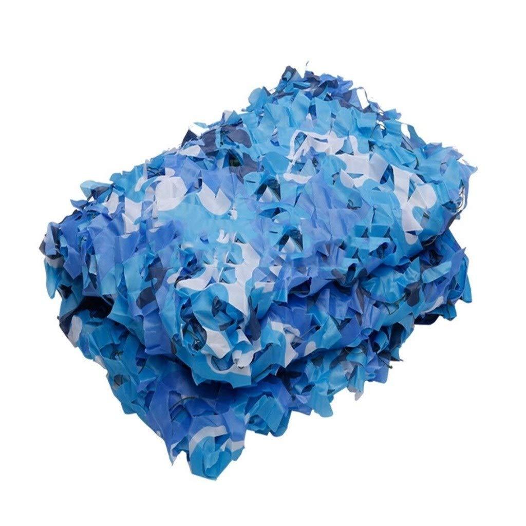 3x10m Filet d'ombrage ZXMEI Filet De Camouflage Bleu, Décoration De Parasol, Photographie De Camping, Filet De Camouflage dans La Jungle (Taille   4x8m)
