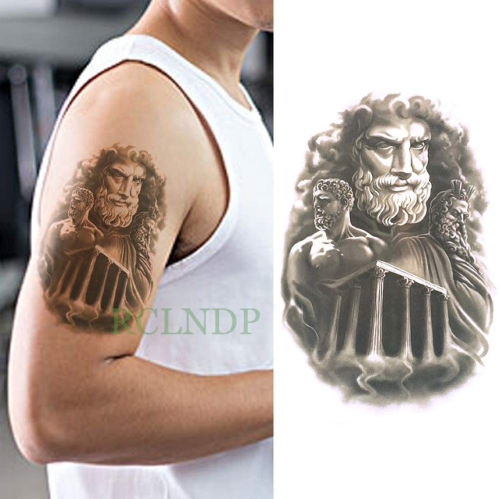 adgkitb 3 Piezas Impermeable Tatuaje Temporal Pegatina león Falso ...