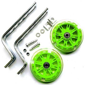 Ruedas de entrenamiento para bicicletas para niños, luz LED para bicicleta estabilizadora de ruedas,