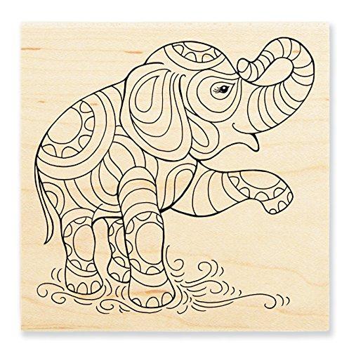 Stampendous Rubber Stamp, Penpattern Elephant