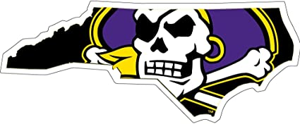 "Amazon.com: East Carolina Pirates 3"" State Logo Auto Decal: Sports &  Outdoors"