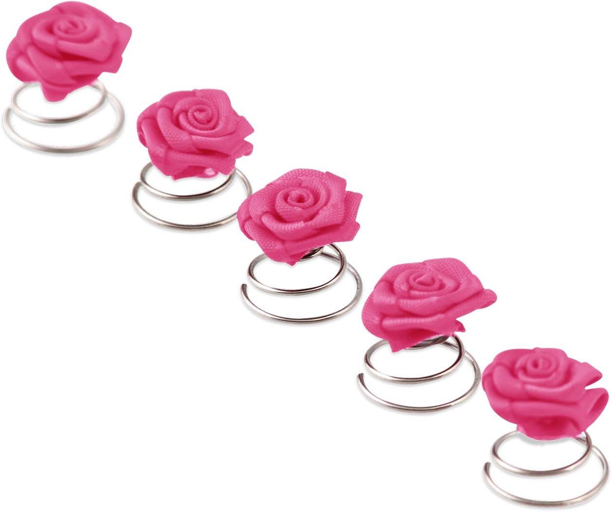 Set 10 blancs épingles à cheveux Satin Roses Rose Mariage Mariée Bijoux de Cheveux Fleur