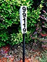 Solar Lighted Address Sign - Bright Custom House Plaque to help Emergency Vehicles and Visitors locate your home
