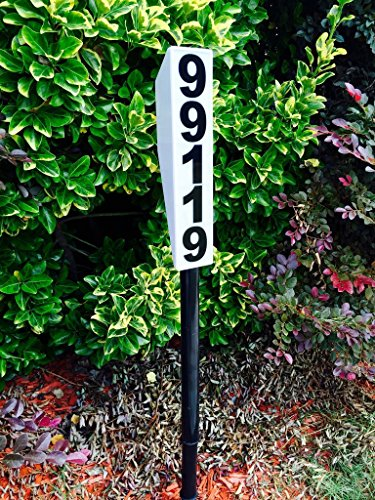 Solar Lighted Address Sign - Bright Custom House Plaque to help Emergency (Estate Mailbox)
