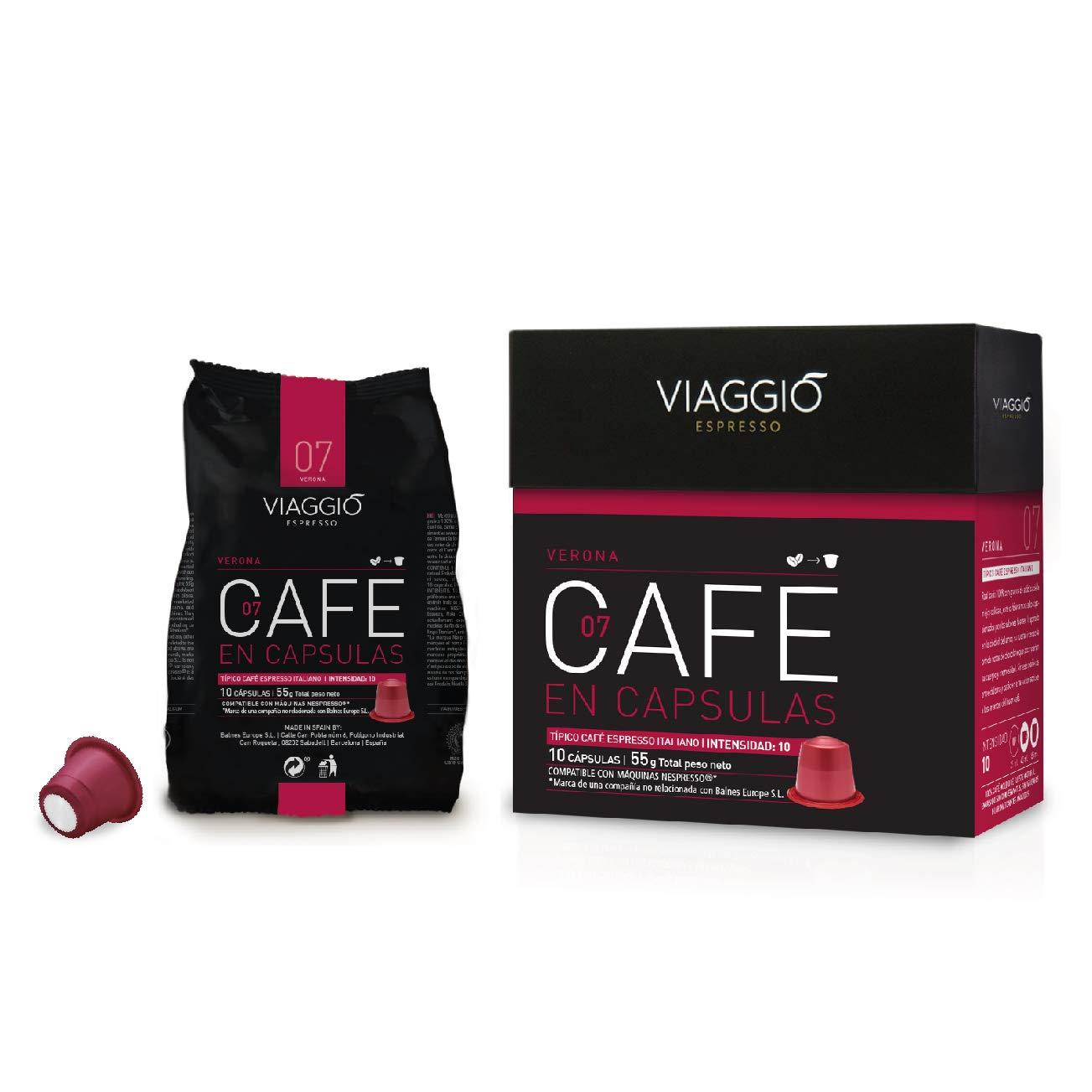 VIAGGIO ESPRESSO - 240 Cápsulas de Café Compatibles con Máquinas Nespresso - VERONA: Amazon.es: Alimentación y bebidas