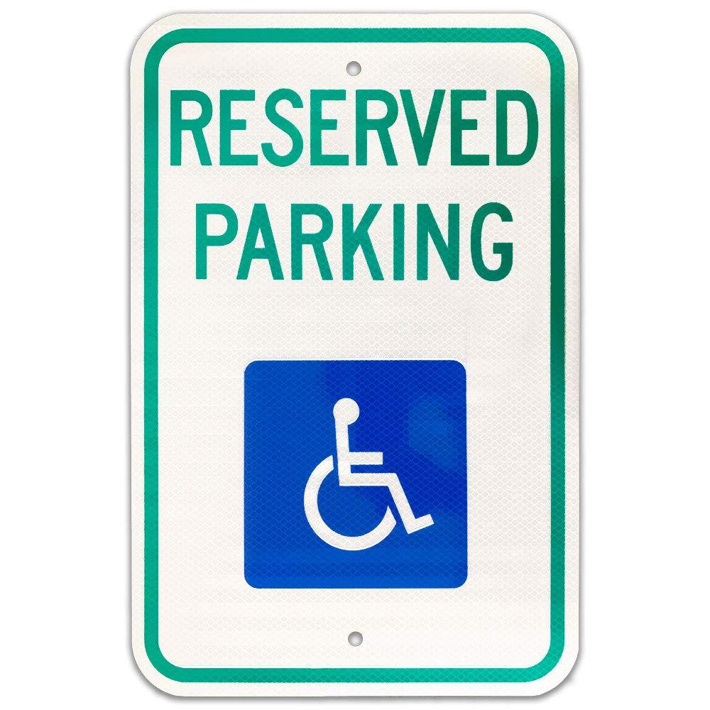 Federal discapacidad señal de prohibido aparcar (R7 - 8) 12 ...