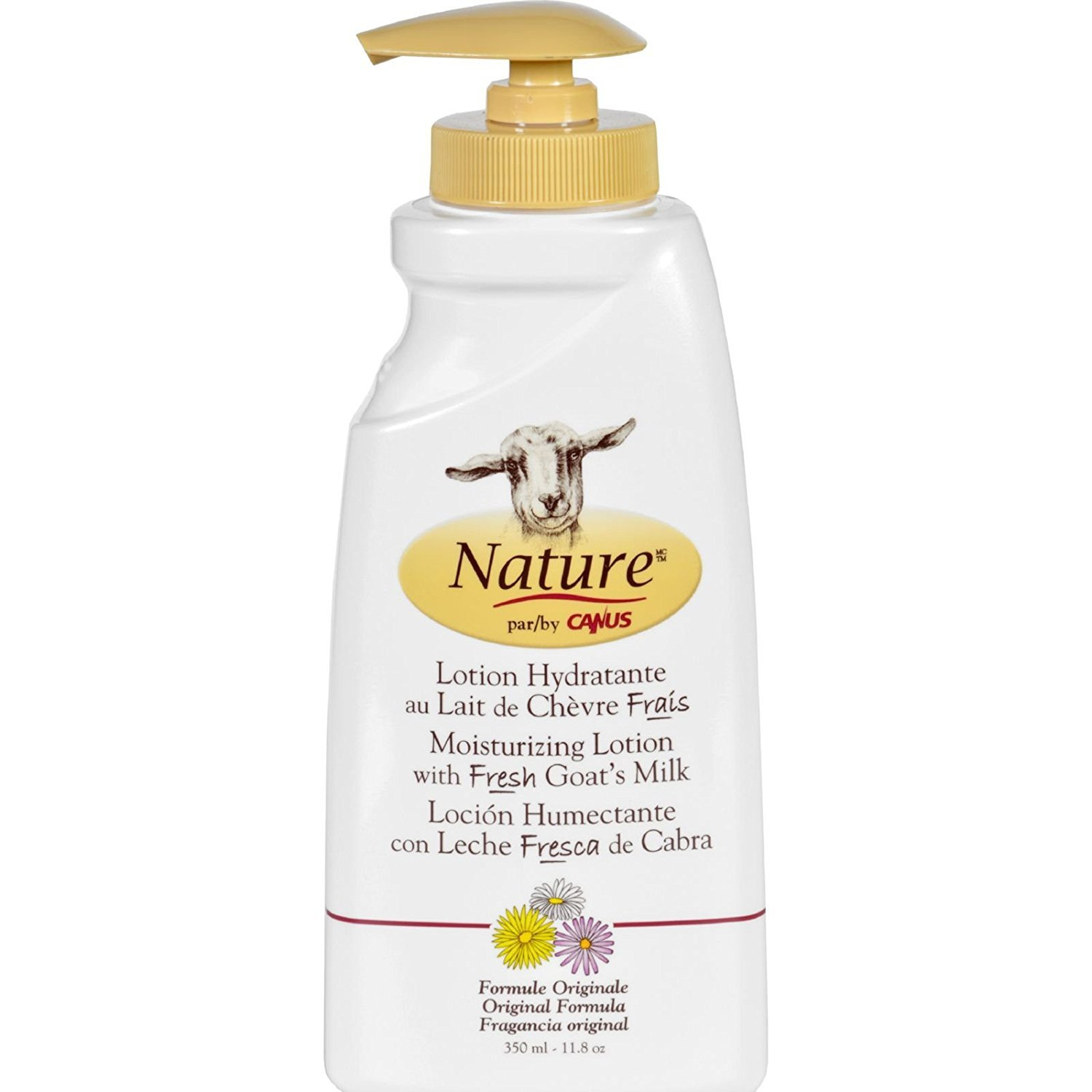2 Packs of Nature By Canus Lotion - Goats Milk - Nature - Original Formula - 11.8 Oz