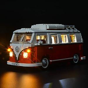 Briksmax Volkswagen T1 Camper Van Led Lighting Kit- Compatible with Lego 10220 Building Blocks Model- Not Include the Lego Set