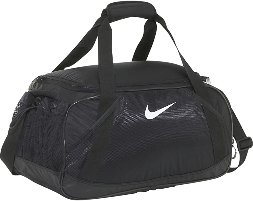 c6977885359a Amazon.com  Nike Varsity Girl 2.0 Medium Duffel (Black Black  White ...