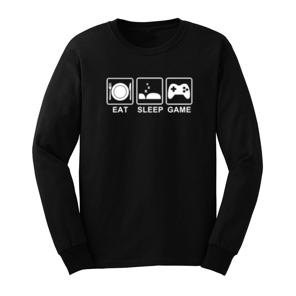 S Eat Sleep Game Gamer Funny T Shirts Casual Tee