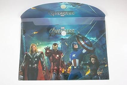 e6172c9e8 ShopKooky Avengers Cartoon Printed Folder for Kids (Pack of 24) | Designer  and Attractive