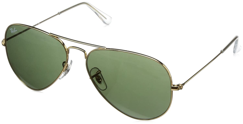 Ray-Ban Gafas de sol Aviador RB3025 Aviator metal, Gold: Amazon.es ...