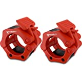 """Barbell Collars (Pair) - Locking 2"""" Olympic Size Barbell Clamp Clips - Great for Crossfit Strength Training"""