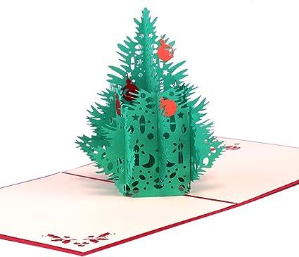 Carte de Vœux Noël 3D Papier Spiritz Pop Up Carte de Vœux Noël