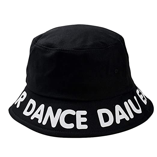 6a613e57377dc Kelly Bro Narrow Brim Outdoor Bucket Hat Letter Print for Women Men Black  at Amazon Women s Clothing store