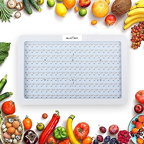 PawTech LED Grow Light,300W/1000W Full Spectrum Grow Lamp for Indoor Plant Grow Lights With Hangers with UV&IR for Greenhouse Hydroponic Indoor Plants Veg and Flower (300W)