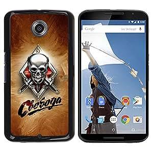 YiPhone /// Prima de resorte delgada de la cubierta del caso de Shell Armor - Skull Knives Russian - Motorola NEXUS 6 / X / Moto X Pro