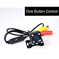 E-Kylin Car HD Universal Backup Camera [One Button Control] LED Night Vision: NTSC/PAL & Front View(Non-Mirrorred…