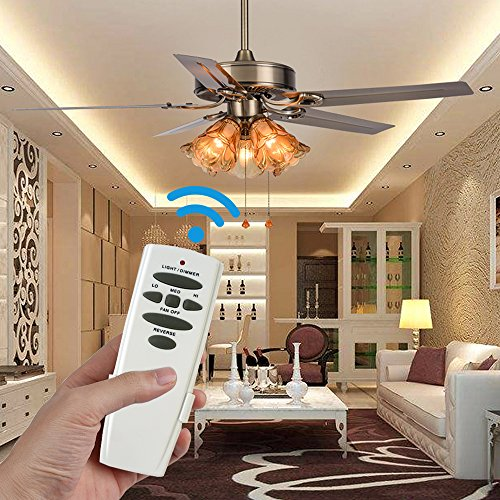 Eogifee Ceiling Fan Remote Control of Replacement for Hampton Bay UC7078T CHQ7078T with Reverse Button by Eogifee (Image #4)