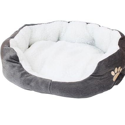 Wakerda 1 Pcs Deluxe Suave casa de Perro de Peluche Perro Acolchado Cama del Animal doméstico