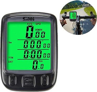 Cuenta Kilometros Bici Inalambrico Bicicleta Potenciometro Ciclismo Bicicleta Velocímetro Velocímetro De Bicicletas Velocímetro Velocímetro Sensor De Cadencia: Amazon.es: Deportes y aire libre
