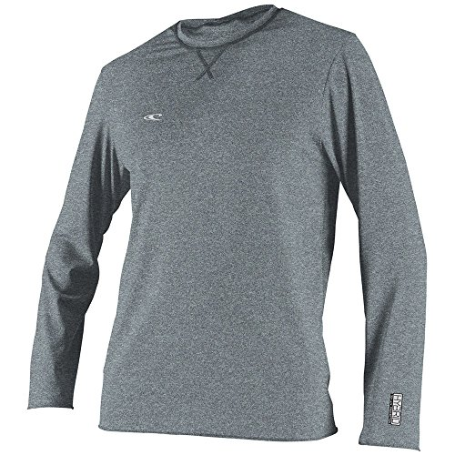 O'Neill Wetsuits Men's UV Sun Protection Hybrid Long Sleeve Surf Tee Sun Rash Guard