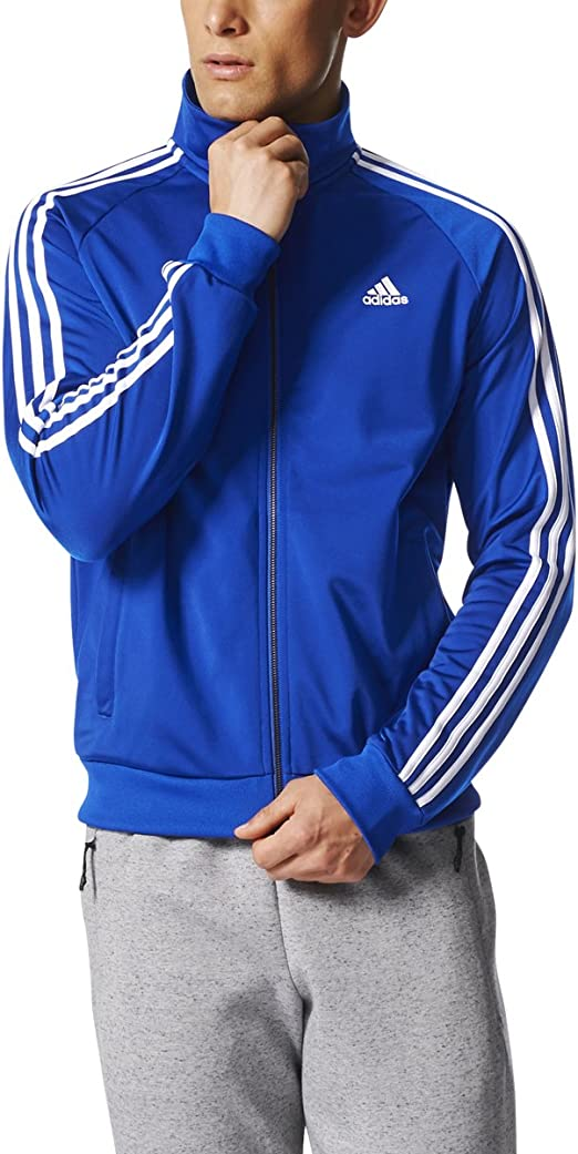 adidas 3S Tricot Track Jacket Collegiate RoyalWhite, Large