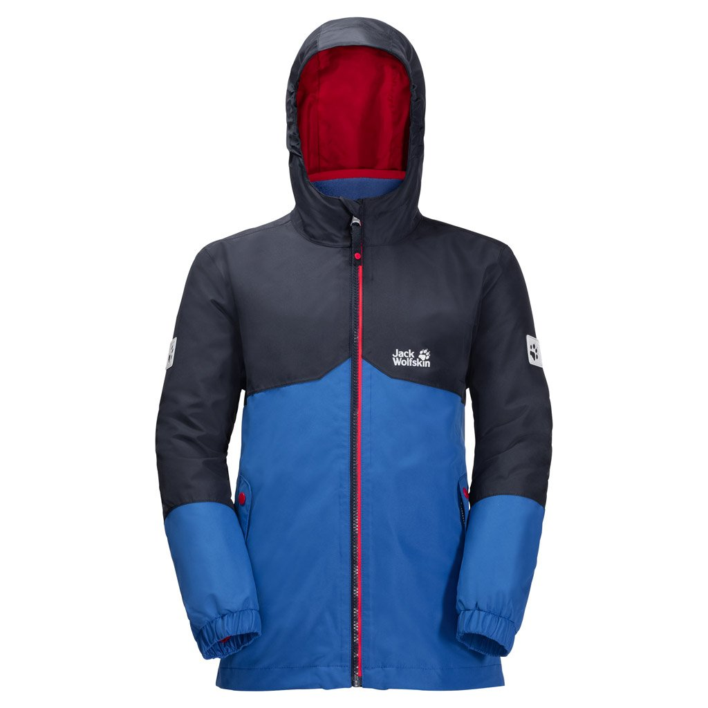 Jack Wolfskin Boy's B Iceland 3-in-1 Waterproof Insulated System-Zip Jacket, Coastal Blue, Size92(18-24)