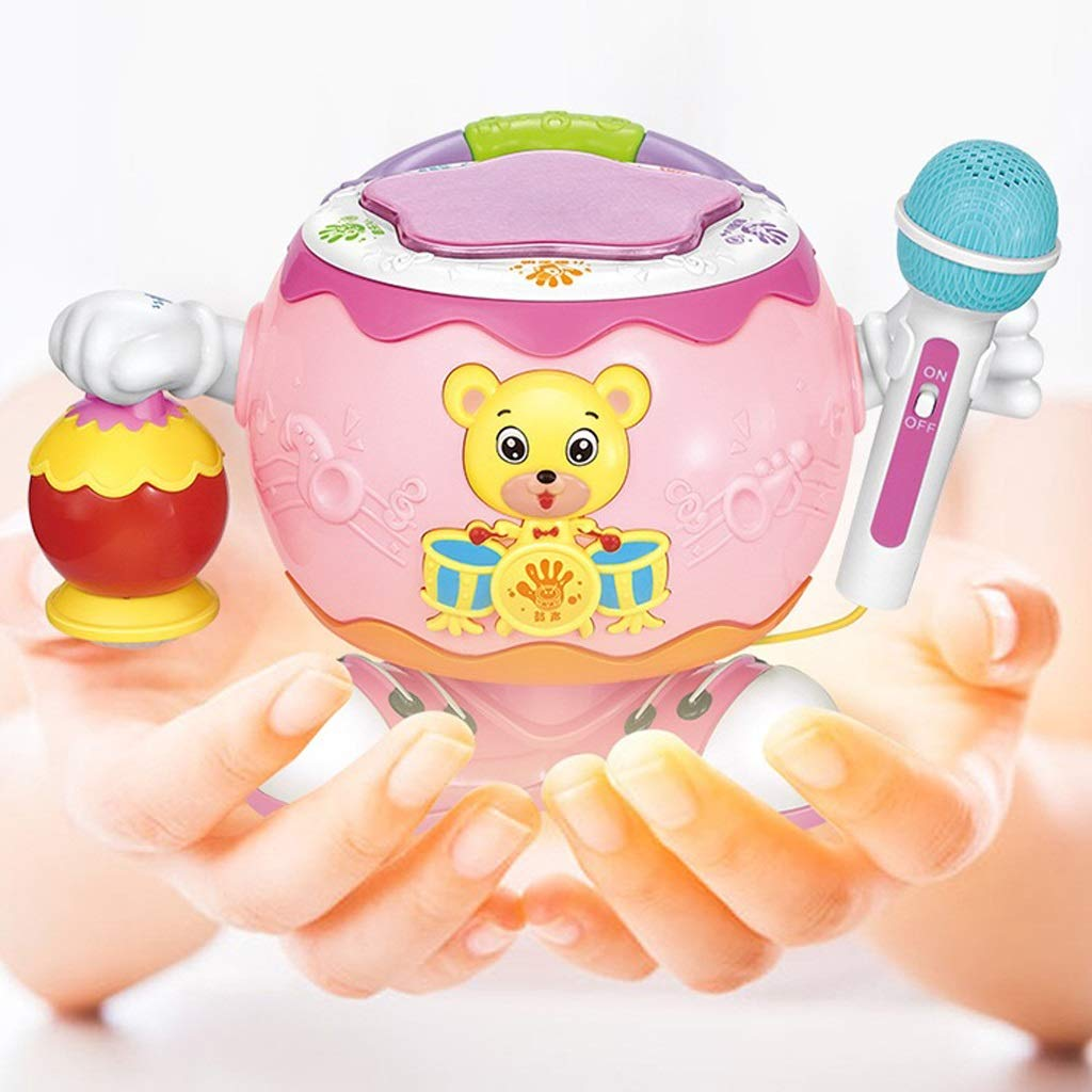 素晴らしい外見 子供の教育多機能回転ドラムドラマードラムドラム、マイクベビーサウンドとライトランタンおもちゃ (色 Pink) (色 : Pink) Pink Pink B07MCY926H, 本物:4dbb5f85 --- adornedu.com