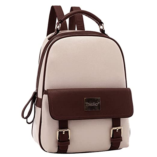 Tinksky® New Arrival Korean Fashion Bag Vintage Backpack College Students  Schoolbag (Beige) 3319eece54d05