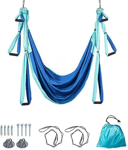 Hängende Yoga Schaukel Aerial Trapezständer Aerial Yoga Frame Stahl Blau 12M